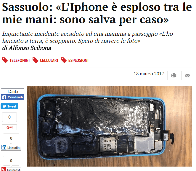 iphone esploso mamma spera solo di riavere le foto
